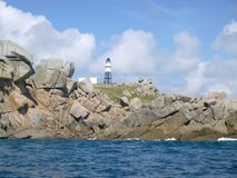 Granite rock formation Peninnis Head Isles of Scilly royalty free stock images