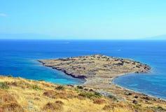 Peninsula and Aegean Sea Stock Photos