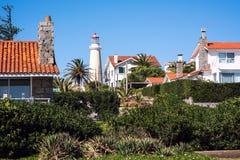 Peninsula area with Lighthouse in Punta del Este. Maldonado, Uruguay Royalty Free Stock Image