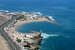 Peninsula in Arica city, Chile. Peninsula embankment in Arica city, Chile stock image