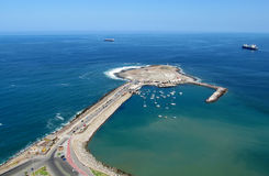 Peninsula in Arica city, Chile. Peninsula embankment in Arica city, Pacific Ocean, Chile royalty free stock photography