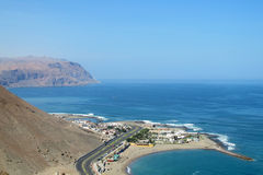 Peninsula in Arica city, Chile. Peninsula embankment in Arica city, Pacific Ocean, Chile stock images