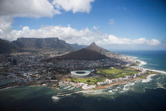 Peninsula Cape Town South Africa. Cape Town south Africa view from helicopter Stock Photos