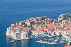 Peninsula of Dubrovnik with harbor, Royalty Free Stock Image