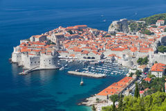 Peninsula of Dubrovnik with harbor, Royalty Free Stock Photography