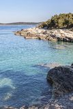 Kamenjak peninsula in Istria. The peninsula Kamenjak in Istria is a paradise for all mountain bikers and hikers who love untouched nature and solitude stock photo