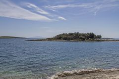 Kamenjak peninsula in Istria. The peninsula Kamenjak in Istria is a paradise for all mountain bikers and hikers who love untouched nature and solitude stock image