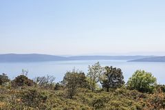 On the peninsula Koromacno in Istria. The peninsula Koromacno in Istria is a popular destination for nature lovers, hikers mountain bikers and off-roaders royalty free stock images