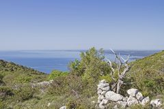 On the peninsula Koromacno in Istria. The peninsula Koromacno in Istria is a popular destination for nature lovers, hikers mountain bikers and off-roaders stock photography
