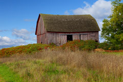 Peninsula Old Barn Stock Photo
