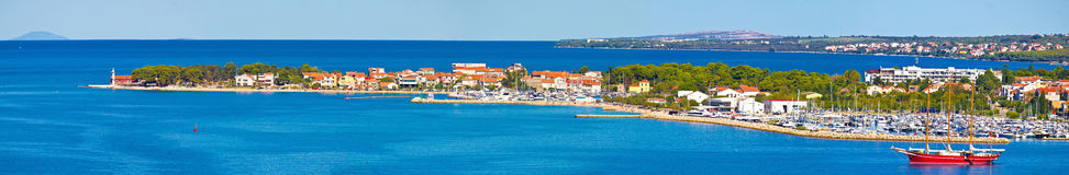 Peninsula of Puntamika in Zadar panoramic view Royalty Free Stock Images