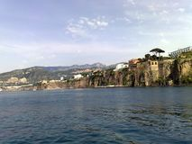 The Peninsula of Sorrento in Italy 2. The Peninsula of Sorrento in Italy, rocky promontory stretched out in the blue sea Royalty Free Stock Photo