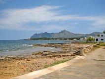 Peninsula Victoria, mountain crest, north Majorca Stock Images
