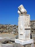 Penis fallosstenstaty i Delos, Grekland Royaltyfri Fotografi
