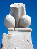 Penis fallosstenstaty i Delos, Grekland Royaltyfria Bilder