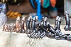 Penis sculptures Stock Photos