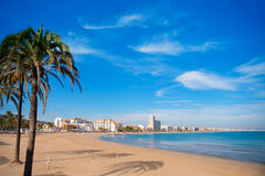 Peniscola beach in Castellon spain Royalty Free Stock Photo