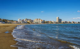 Peniscola beach ,Province Castello, Spain Royalty Free Stock Image