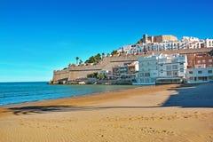 Peniscola beach ,Province Castello, Spain Royalty Free Stock Photos