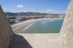 Peniscola beach. Royalty Free Stock Images