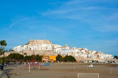 Peniscola Castle and beach in Castellon Spain Royalty Free Stock Images