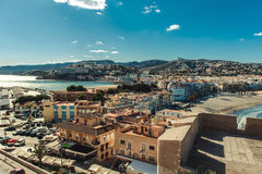 Peniscola cityscape. Costa del Azahar. Spain Stock Image