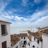 Peniscola downtown old white village Mediterranean houses Royalty Free Stock Images
