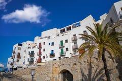 Peniscola old village in Castellon of Spain. Mediterranean downtown stock photos