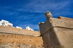 Peniscola old village in Castellon of Spain. Mediterranean downtown royalty free stock images