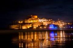 Peniscola przy nocą zdjęcia royalty free