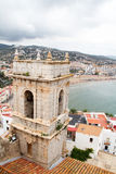 Peniscola Spain. Peniscola, Spain: view of Castle in Peniscola, Spain on 10 september 2015 royalty free stock photo