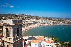 Peniscola Spanien Arkivbild