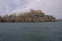 Peniscola stad i havet Royaltyfri Fotografi