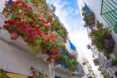 Peniscola stara wioska w Castellon Hiszpania obraz stock