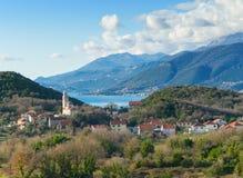 Penisola di Lustica. Il Montenegro Immagine Stock Libera da Diritti