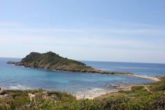 Penisola di Taillat della protezione sul Riviera francese Fotografia Stock