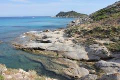 Penisola di Taillat della protezione sul Riviera francese Immagini Stock