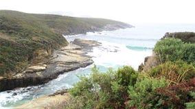 Penisola di Tasman alla baia del canestro Fotografia Stock