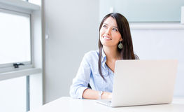 Penisve businesswoman working Royalty Free Stock Images
