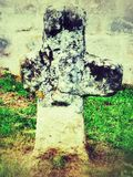 Penitence cross in retro style Stock Images