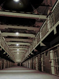 Penitenciary architecture. Interior architecture of a penitenciary Royalty Free Stock Photography