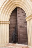 Penitent of the brotherhood of. `Santa Marta` entering the church before performing the penitential station Stock Images