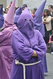 Penitent. QUITO, ECUADOR - MARCH 29: Penitent at the Good Friday procession on march 29, 2013 in  Quito, Ecuador Royalty Free Stock Photo