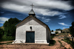 Penitente Church. Outside Santa Fe, New Mexico.  The Penitente are a small Christian sect dating back to the 4th Century.  In New Mexico the community is very Stock Photos