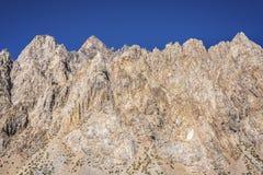 Penitentes山在Mendoza,阿根廷 免版税库存照片