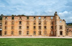 The penitentiary building at Port Arthur in Tasmania, Australia Stock Photos