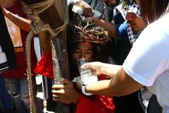Penitents αναπαριστώντας το πάθος Χριστού Στοκ φωτογραφία με δικαίωμα ελεύθερης χρήσης