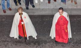 Penitents στην ιερή εβδομάδα Στοκ φωτογραφία με δικαίωμα ελεύθερης χρήσης