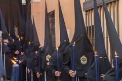 Penitents der Bruderschaft von Stockfotos