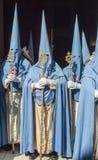 Penitents der Bruderschaft von San Esteban Lizenzfreie Stockfotos